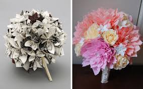Paper Flower Bouquet For Wedding Alternative And Non Traditional Wedding Bouquets