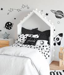 monochrome star kids bedding set twin