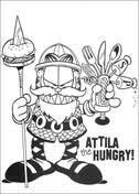 Hongerige Garfield Wat Ligt Er In De Koelkast Kleurplaat