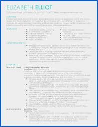 Resume Template Marketing Elegant Marketing Resume Template Sample Resume Templates Pdf