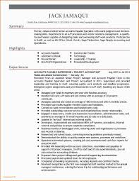 Accounts Payable Resume Objective Resume Samples Accounting Experience New 43 Resume Objective For