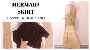 Mermaid Skirt Pattern Best How To Draft Pattern Mermaid Skirt48 Panel Skirt Part I YouTube