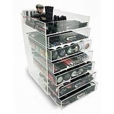 amazon ondisplay 7 tier acrylic cosmetic makeup organizer home kitchen