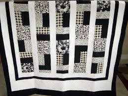 modern quilting | White/Cream/Black - Modern/Contemporary Lap ... & modern quilting | White/Cream/Black - Modern/Contemporary Lap Quilt -  Quilters Adamdwight.com