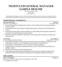 Club Promoter Resume