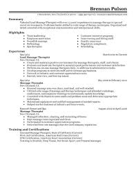New Massage Therapist Resume Examples Best Massage Therapist Resume