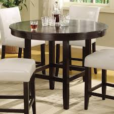 bossa  in round counter height dining table  dark chocolate