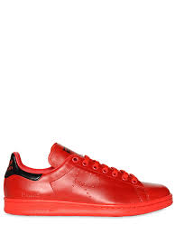 adidas by raf simons stan smith leather sneakers red black men shoes adidas jumper white adidas shoes black delicate colors