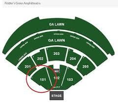2x Weezer Pixies Tickets Fiddlers Green July 31st