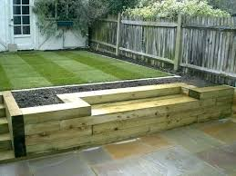 wooden retaining garden wall retaining wall using sleepers set full image for vegetable garden wall ideas