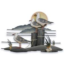 seagull trio metal wall art cw233