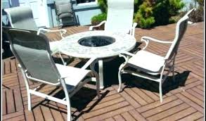 round patio table with fire pit outdoor fire pit sets bay fire pit table bay fire