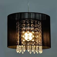 black drum pendant light shade crystal ceiling lamp chandelier fixture light