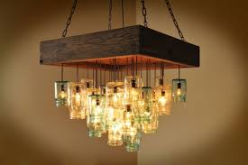 25 fascinating mason jar chandelier designs with a vintage flair