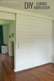 build an extra large sliding barn door with hardware to close off an office