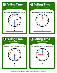 Time Worksheets Hours Half Hours