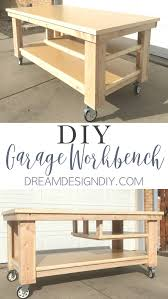 this diy garage workbench on wheels is the perfect mobile multifunctional build to organize your