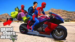 Phim hoạt hình Siêu Nhân Nhện! Spider Man, Hulk, DeadPool Challenges from  the ramp - GTA 5 MODS