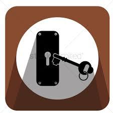 door lock and key cartoon. Key At Door Lock Vector Graphic And Cartoon R