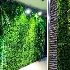 fake grass wall rice seedling fake grass hedge vertical garden green wall mat artificial fake grass