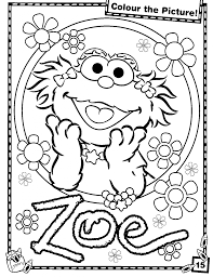 Small Picture Sesame Street Coloring Pages Coloring Coloring Pages