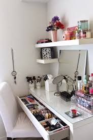 White Makeup Rack Storage Ideas