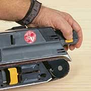 craftsman 3x21 belt sander. the location of speed-control switch matters. position is convenient on craftsman (pictured), bosch and ryobi. 3x21 belt sander