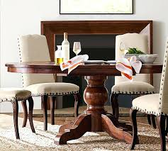 sumner extending pedestal dining table pottery barn rustic round dining table small rustic dining table plans rustic round kitchen table