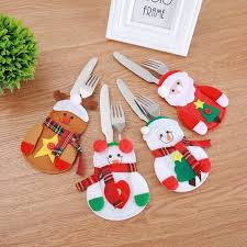 <b>Christmas decoration</b> small Snowman <b>knife and</b> fork bag creative ...