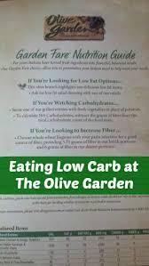 Low Carb Olive Garden Menu No Carb Diets Low Carb At