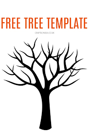 Template Tree Free Tree Template Crafts On Sea