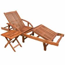 vidaXL <b>Solid</b> Acacia Wood Folding <b>Sun Lounger</b> Chaise Bed ...