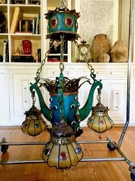 a very grand and unique moroccan inspired chandelier from the sahara hotel las vegas brilliant jeweled