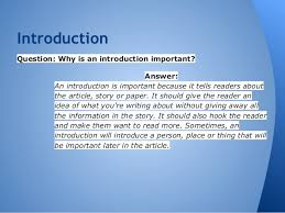 compare contrast essay 5 introductionquestion why is an introduction
