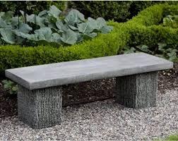mound overthrow stone garden bench