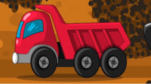 Camion Dessin Anim La Grue Excavatrice Tombereau Jeux De