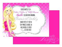Princess Invitations Free Template Birthday Party Invitation Ideas Amazing Barbie Template And