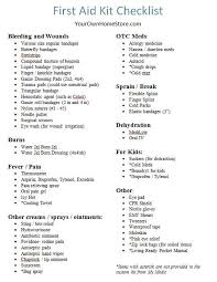 diy first aid kit new a printable rn and mom approved first aid kit checklist of