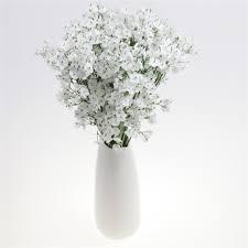 white fake silk artificial gypsophila flowers bouquet wedding party home decor