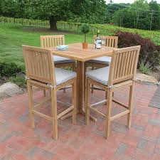 foxhall square bar table with foxhall bar sidechairs