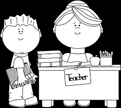 teacher desk clipart black and white. Simple Desk Black And White Boy At A Teacheru0027s Desk On Teacher Clipart And E