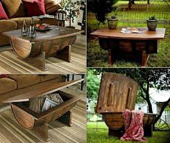 wood barrel furniture. Wine Barrel Bar Table And Many Other DIY Furniture That Can Be Transferred Into An Old Wood