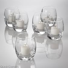 amazing small glass candle holder eastland grande votive hurricane clear set of 48 quick jar bulk candlestick stick with lid plate