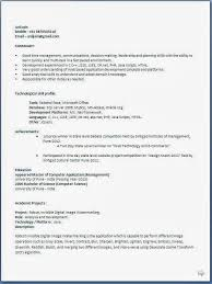 Sample Resume For Freshers Roddyschrock Com