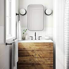 Reclaimed Wood Lacquer Single Bathroom Vanity