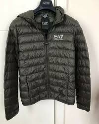 armani ea7 men s core down bubble light weight jacket large fit small to size