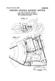 1021x1500 harley oil tank patent 1938 harley davidson art patent print