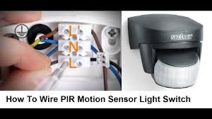 how to wire pir motion sensor light switch youtube How To Wire A Pir Light Diagram How To Wire A Pir Light Diagram #6 how to wire a pir light diagram