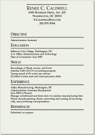 Resume Templates Sample Format For College Students With Noxperience