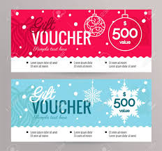 Christmas Gift Coupon Christmas Gift Voucher Coupon Discount Gift Certificate Template